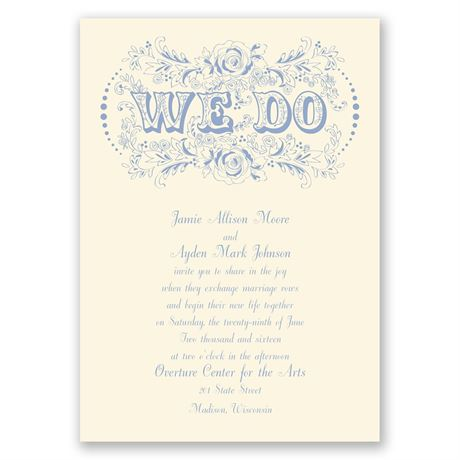 Vintage Vows - Ecru - Invitation