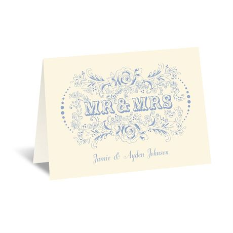 Vintage Vows - Ecru - Thank You Card