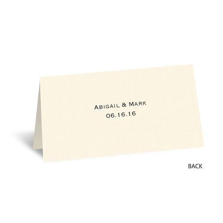 Birch Bark Heart - Ecru - Place Card