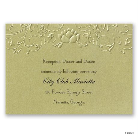 Disney Water Lily Reception Card Tiana