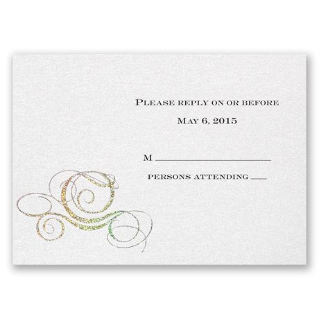 Disney Fairy Tale Carriage Response Card