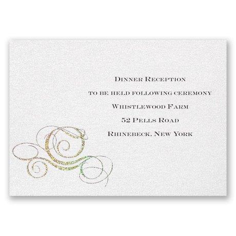 Disney Fairy Tale Carriage Reception Card