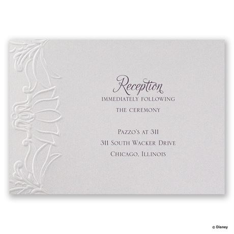 Disney Deco Lily Reception Card