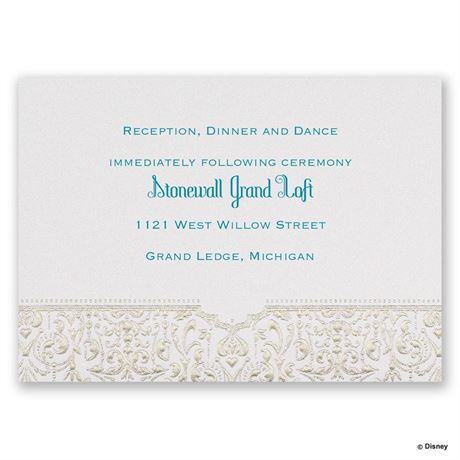 Disney Bohemian Chic Reception Card