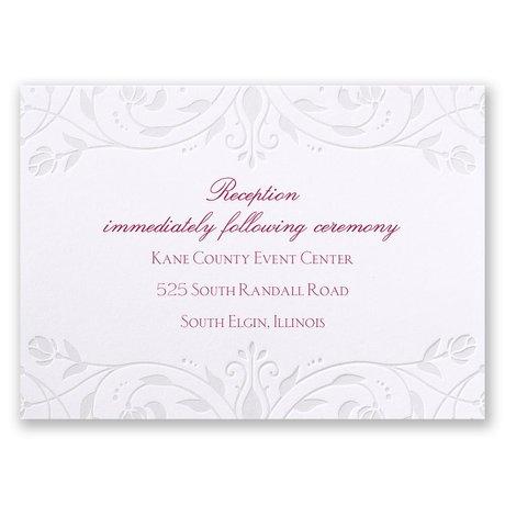 Disney Dreamy Roses Reception Card