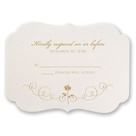 Disney Luxurious Rose Response Card