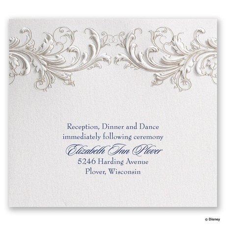 Disney Golden Fairy Tale Reception Card