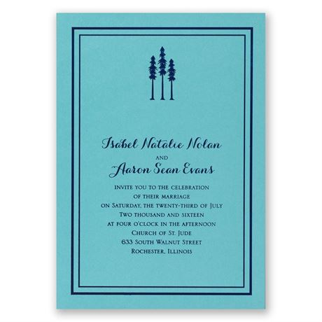Choose Your Design - Aqua Shimmer - Foil Invitation
