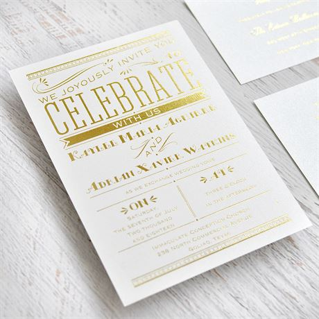 Big News - Black Shimmer - Foil Invitation