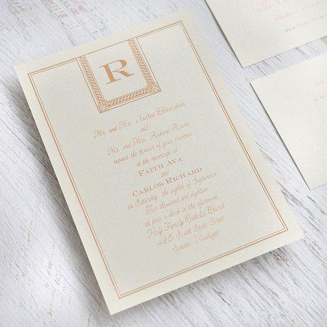 Refined Style - Black Shimmer - Foil Invitation