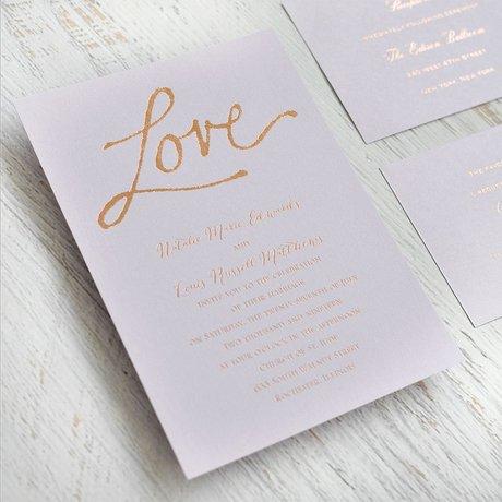 Pure Love - Black Shimmer - Foil Invitation