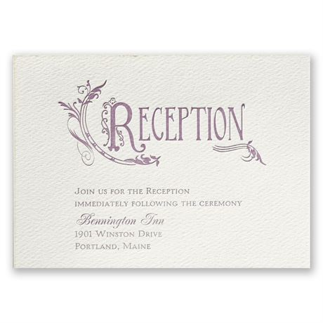 Storybook Style - Ecru - Featherpress Reception Card