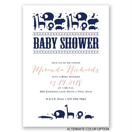 Contemporary Jungle - Baby Shower Invitation