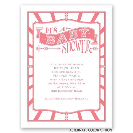 Vintage Circus - Petite Baby Shower Invitation