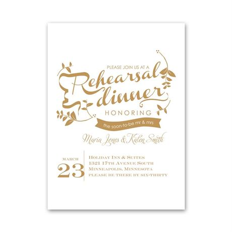 Natural Touch Petite Rehearsal Dinner Invitation