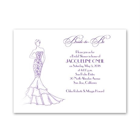 Bridal Fashion Petite Bridal Shower Invitation