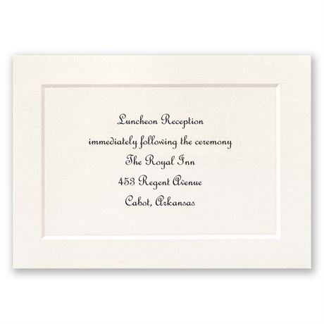 Tradition Triumphs Reception Card