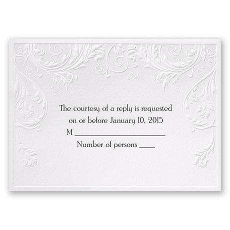 Shaded Grey Response Card and Envelope