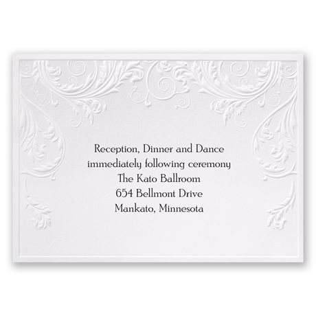 Shaded Grey Reception Card