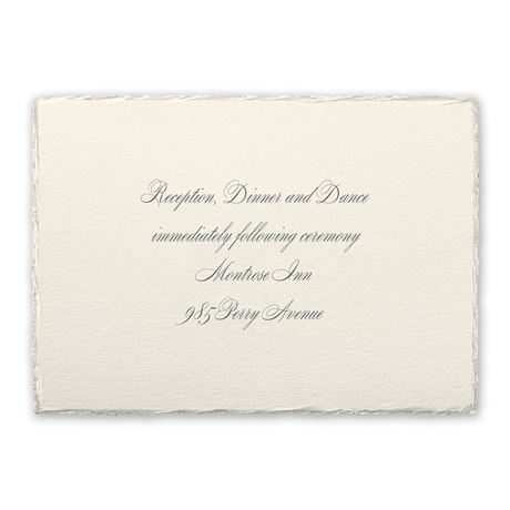 Pearl Trim Reception Card