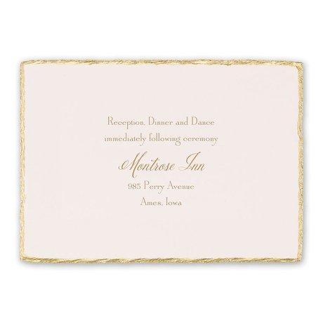 Gold Trim Reception Card