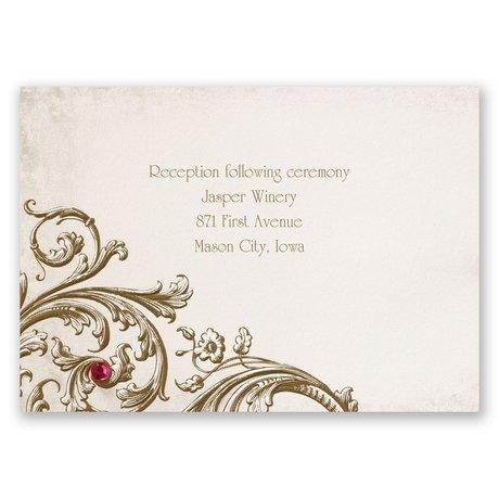 Sepia Filigree Reception Card