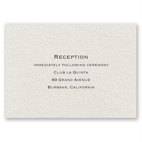 Textured Ecru Reception Card