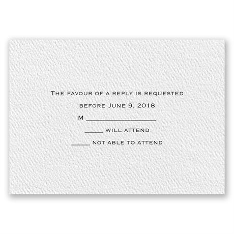 Textured White Response Card