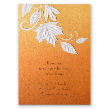 Autumn Radiance Reception Card
