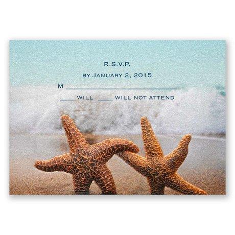 Smitten Starfish Response Card and Envelope