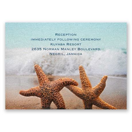 Smitten Starfish Reception Card