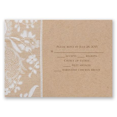 Naturally Romantic Response Card and Envelope