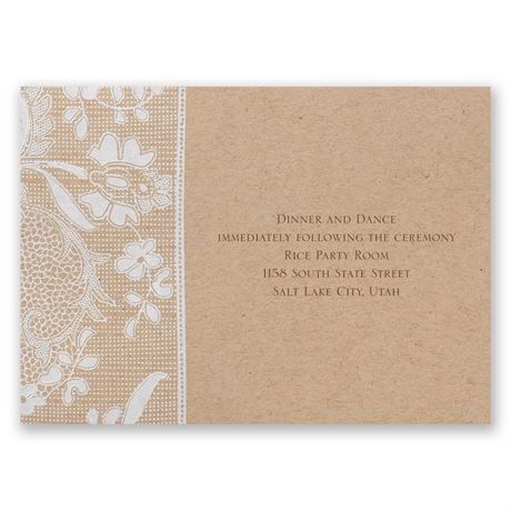 Naturally Romantic Reception Card