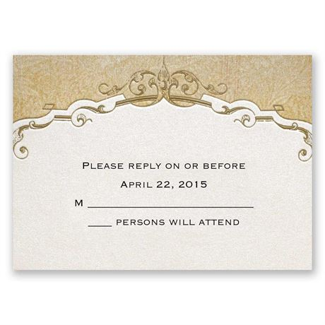 Antique Floral Response Card