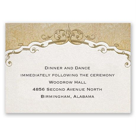 Antique Floral Reception Card