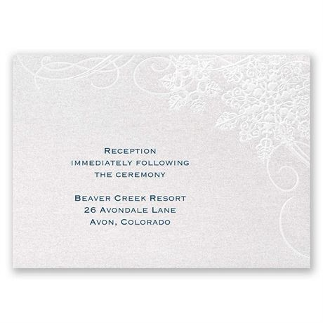 "Winter""s Kisses Reception Card"