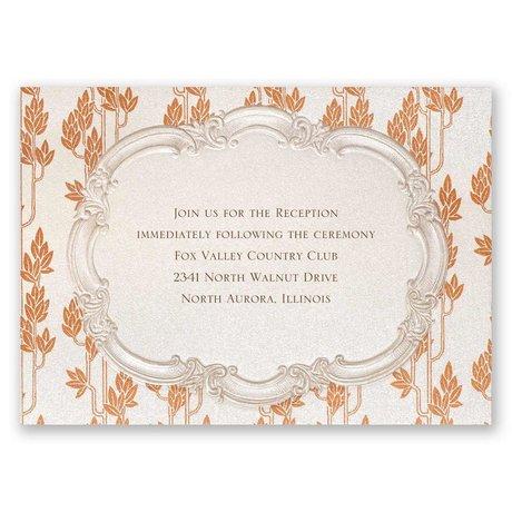 Autumn Vintage Reception Card
