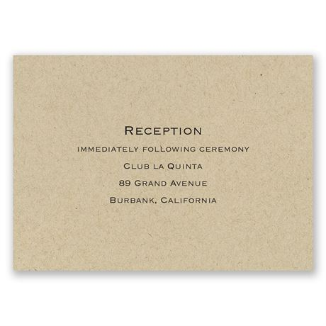 Kraft Reception Card