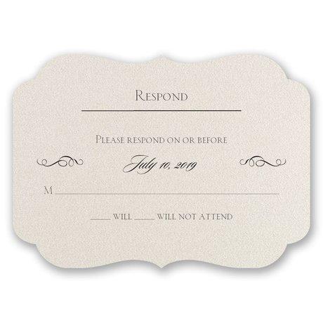 Contoured Elegance Response Card