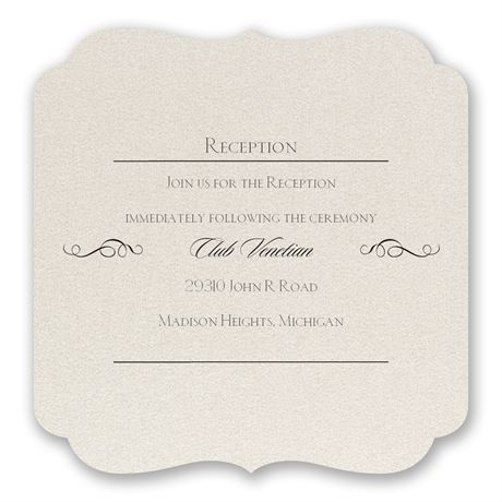 Contoured Elegance Reception Card
