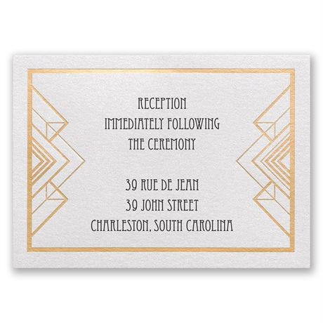Decadence - Reception Card