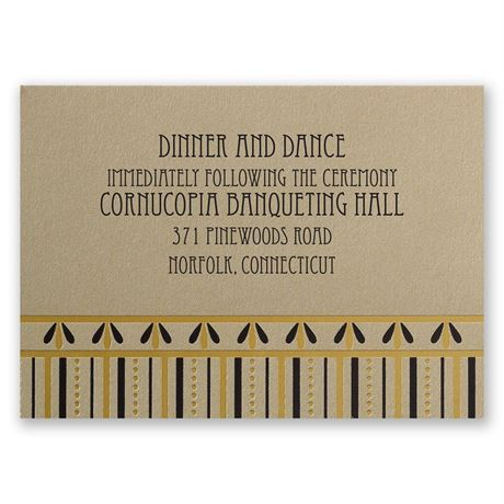 Gatsby Glam Reception Card