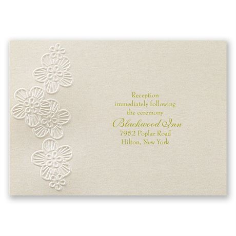 Abundant Beauty Reception Card