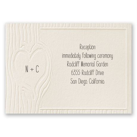 Heartfelt - Ecru - Reception Card