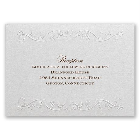 Garden Crest - Reception Card