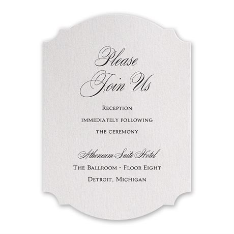 Sparkling Beauty Reception Card