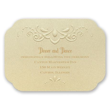 Opulent Lace Reception Card