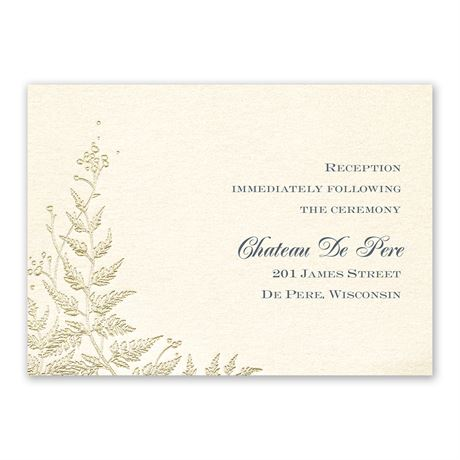 Ferns of Gold Reception Card
