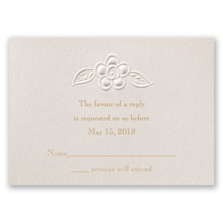 Freshly Cut Flowers Response Card