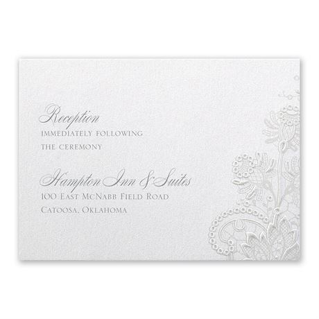 Exquisite Reception Card